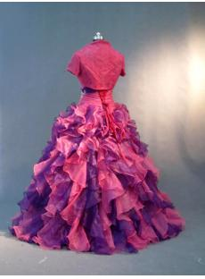 Fuchsia and Purple Pretty Colorful Quinceanera Dresses with Jacket IMG_2767