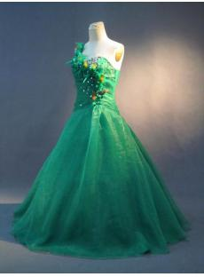 Green Feather Plus Size Quinceanera Dresses IMG_2910