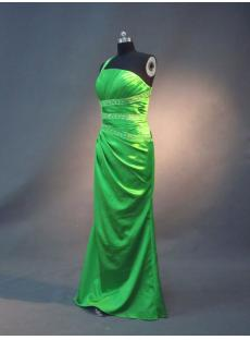 Green Sexy Open Back Evening Dress IMG_2571