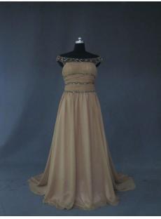 Illusion Neckline Vintage Evening Dress IMG_2666