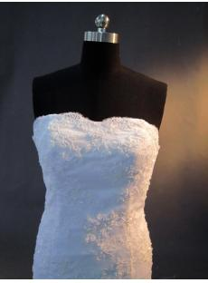 Ivory Strapless Lace Mermaid Wedding Gown IMG_2809