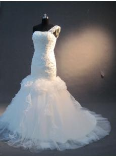 One Shoulder Beautiful Mermaid Bridal Gown IMG_2320