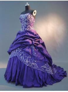 Purple Bridal Dress Ball Gown IMG_2739