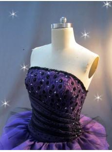 Purple and Black Princess Quinceanera Dress IMG_2433