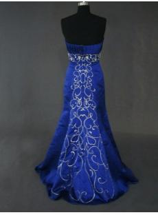 Royal Blue Column Celebrity Prom Dress