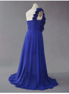Royal Blue One Shoulder Plus Size Prom Dess IMG_2495