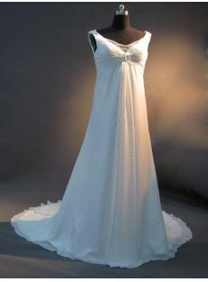 Simple Marternity Beach Bridal Gown IMG_2632