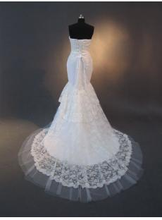 Stheath Lace Simple Bridal Gowns IMG_2542