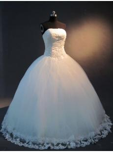 Strapless Princess Ball Gown Wedding Dress IMG_2436