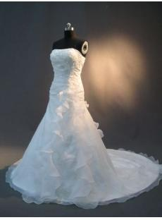 Sweetheart Organza Sequins Elegant Bridal Gown IMG_2385