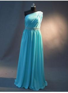 Teal One Shoulder Plus Size Prom Dress IMG_2382