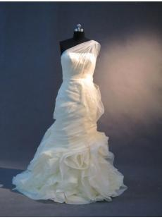 Unique One Shoulder Sheath Bridal Gown IMG_2401
