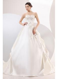 Wedding Dress Affordable Sweetheart Satin 80003