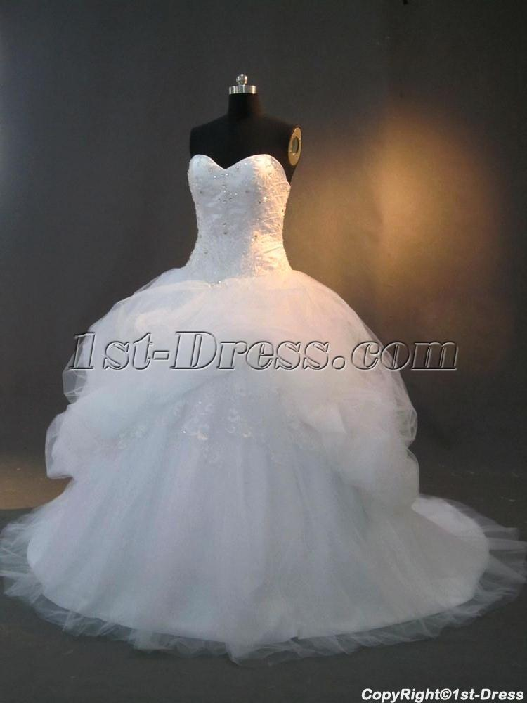 2013 ball gown wedding dresses with ssweetheart neckline