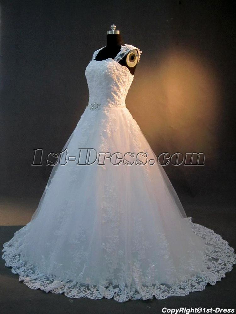Cinderella Bridal Gowns with Cap Sleeves IMG_2892:1st-dress.com