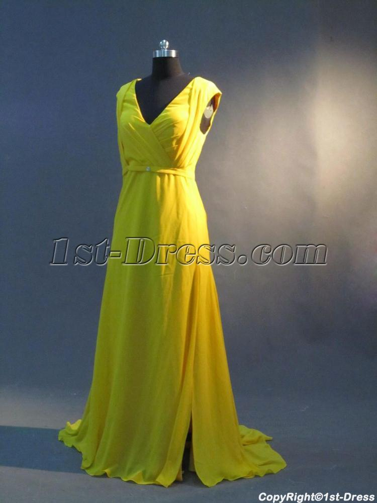 Yellow Plus Size Prom Dresses 16