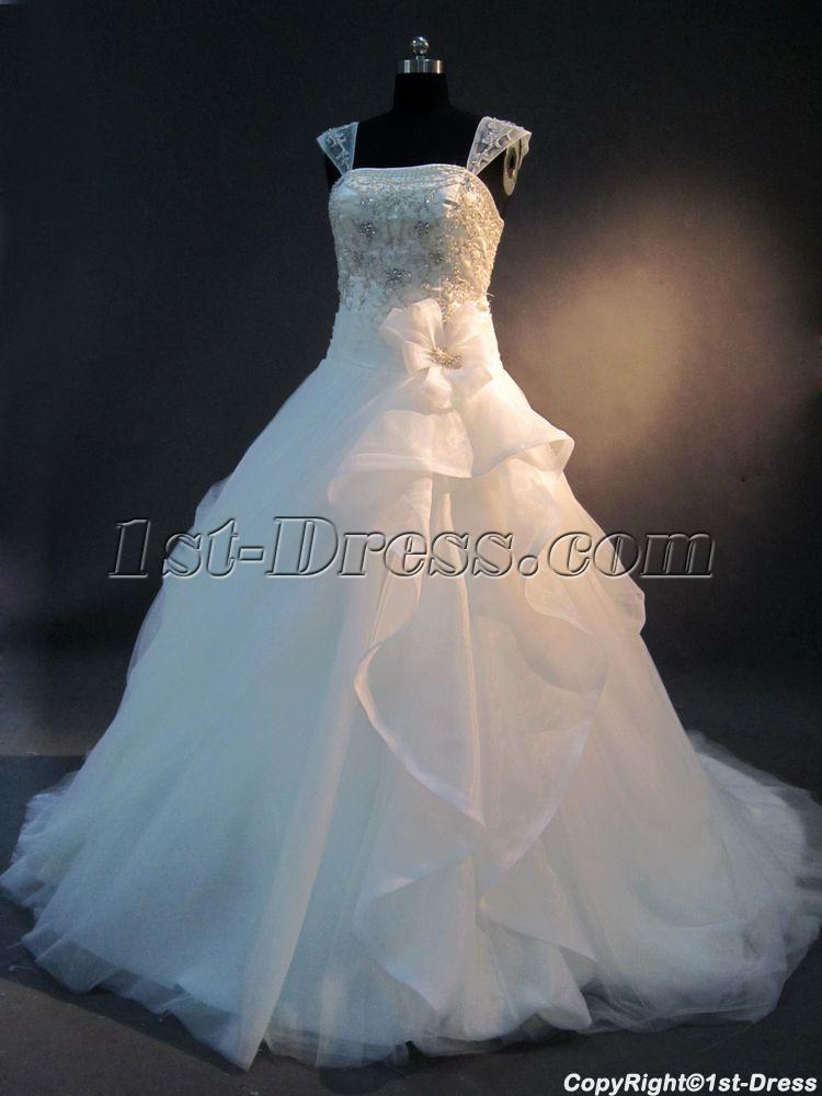 Detachable cap sleeves 2013 bridal gown img 2594 1st for Wedding dress detachable sleeves