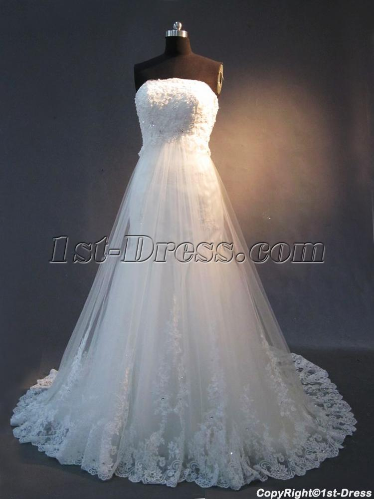 Detachable train lace mermaid bridal gown img 2363 1st for Detachable train wedding dress
