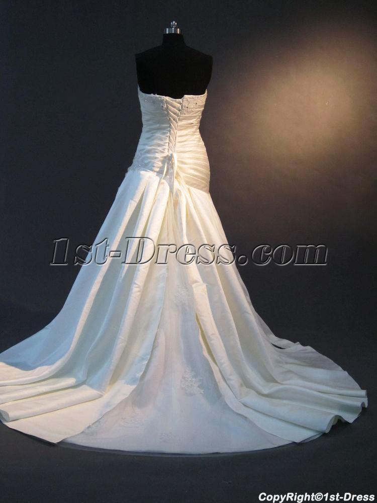 Corsets Drops Waist Wedding Dresses