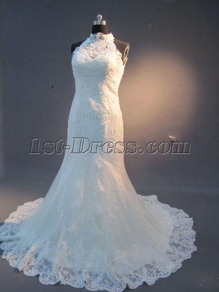 Lace Wedding Dresses With Keyhole Back IMG 2255 1st