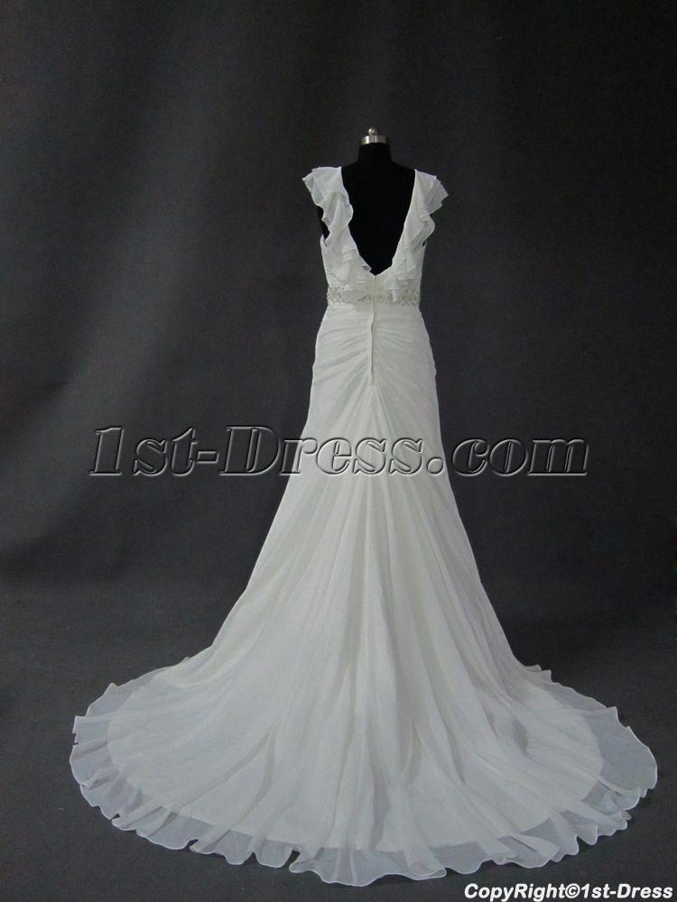 Low back beach bridal gowns img 2615 1st for Beach wedding dress low back