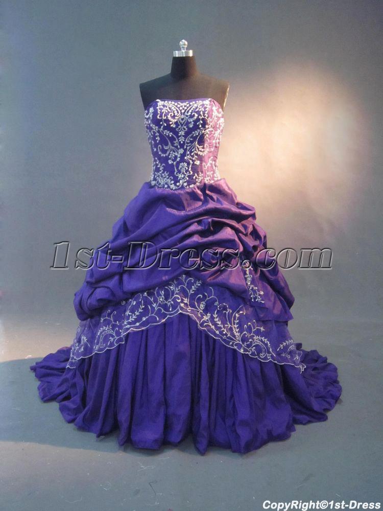 Purple Bridal Dress Ball Gown Img 2739 1st Dress Com