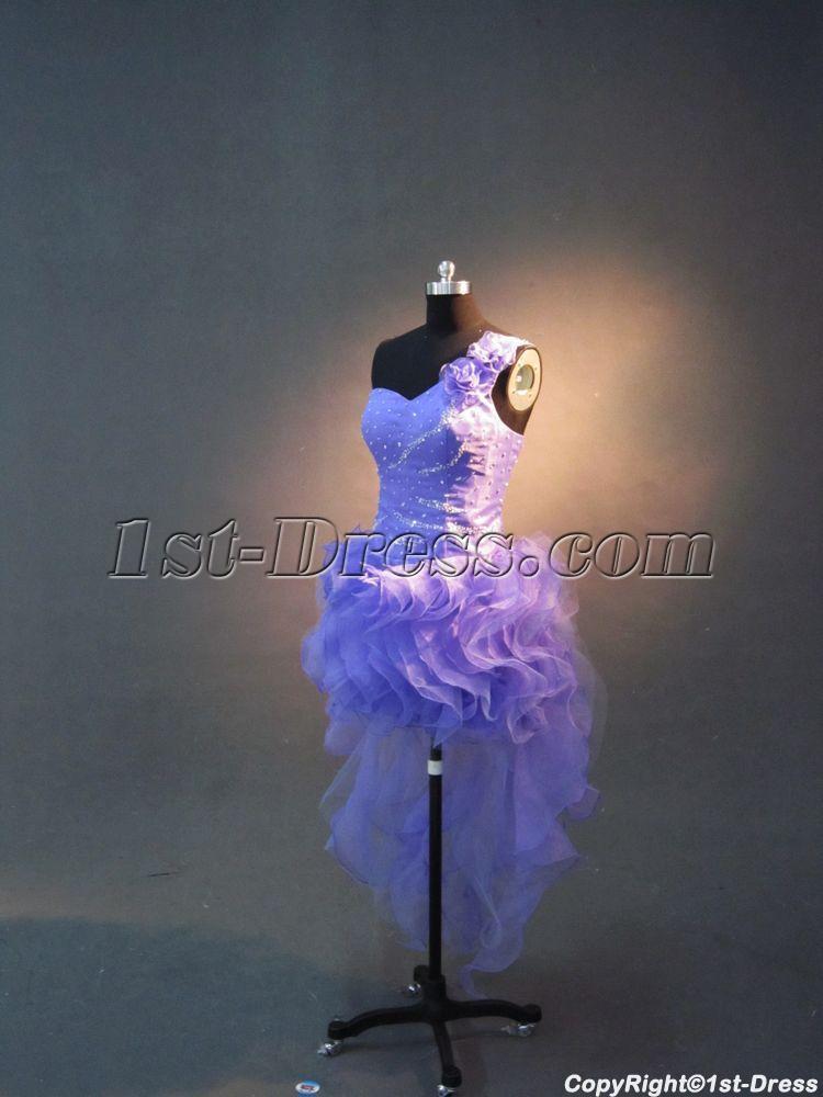 Super One Shoulder High Low Sweet 16 Dresses Img 2662 1st