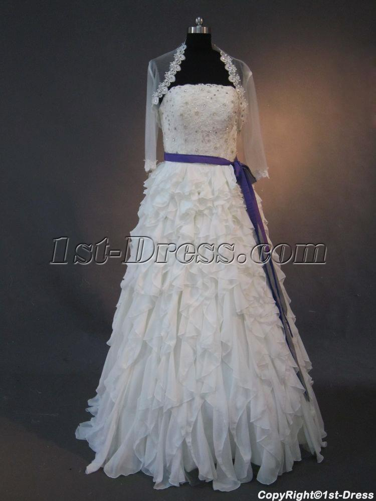Vintage Mature Luxurious Bridal Gowns with Jacket IMG_2562:1st-dress.com