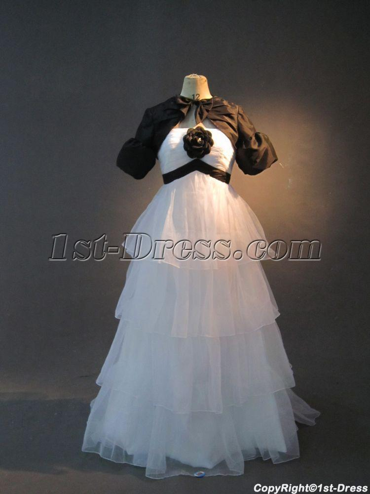 images/201301/big/White-Cheap-Pregnancy-Bridal-Gown-with-Black-Short-Jacket-IMG_2658-186-b-1-1359048908.jpg