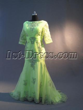 Mother of Brides Dress Plus Size with 3/4 Long Sleeves IMG_2987