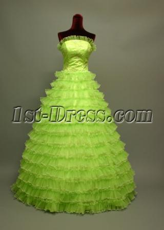 2011 Cute Puffy Green Quinceanera Dresses img_6739