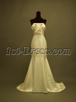 2012 Elaborate Sheath Simple Bridal Gown for Slim Lady 229