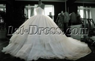 2013 Luxury Puffy Full Bridal Gowns 9830