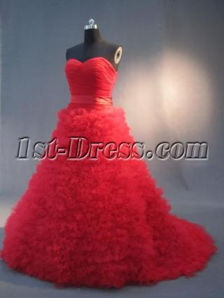 2013 Red Coloured Wedding Dresses IMG_2971
