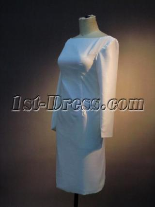 Backless Long Sleeves Short Bridal Gowns IMG_3512