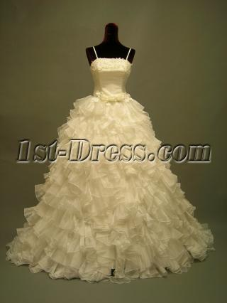 Basque Beautiful Ruffled Sweet 16 Gown 2708