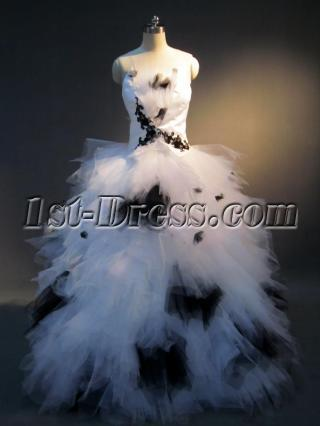 Black and White Colorful Quinceanera Gown IMG_3929