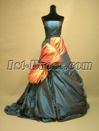 Blue Unique Celebrity Wedding Dresses DSCN2766