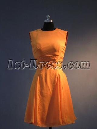 Burnt Orange Short Homecoming Dress IMG_3470