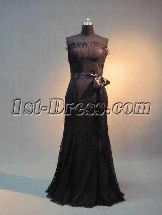 Casual Black Lace Stheath Bridal Gown IMG_3583