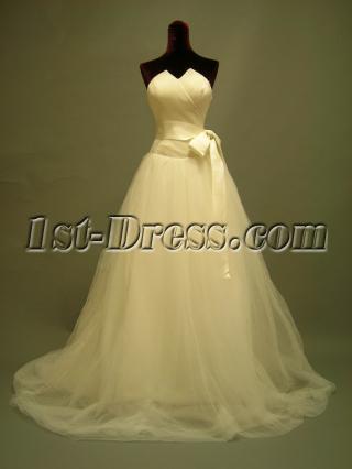 Champagne Strapless Destination Wedding Dresse DSCN2744