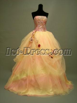 Cheap Quinceanera Dresses under 200 Colorful with Flower DSCN2747