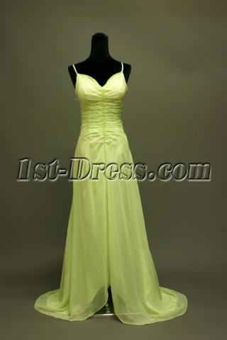Classy Green High Low Prom Dresses IMG_6748