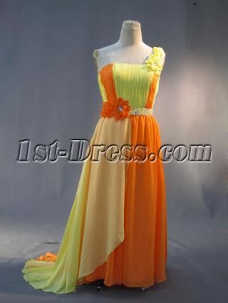 Colorful Plus Size Prom Dresses with One Shoulder IMG_2974