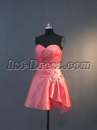 Coral Short Sweetheart Cocktail Dress IMG_3289