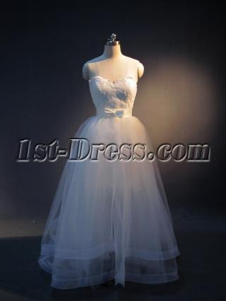 Detachable Skirt Short Bridal Gown with Bow IMG_3926