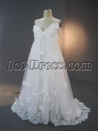 Exquisite Off Shoulder Floral Plus Size Maternity Bridal Gown IMG_3292