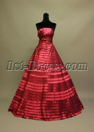 Floor Length Burgundy Best Quinceanera Dress img_6813