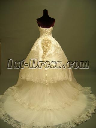 Gothic Wedding Bridal Gown Dresses Cheap 2691