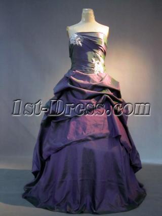 Grape Cute Quinceanera Dresses IMG_3529